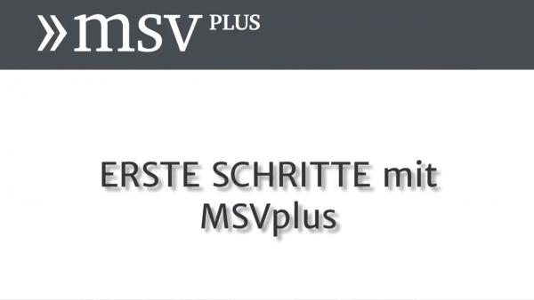 Link zum Video Erste Schritte mit MSVplus