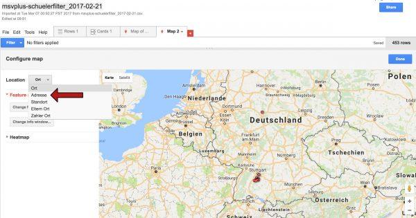 Screenshot zur Anleitung der Visualisierung